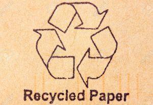 carta riciclata - bagno oliviero