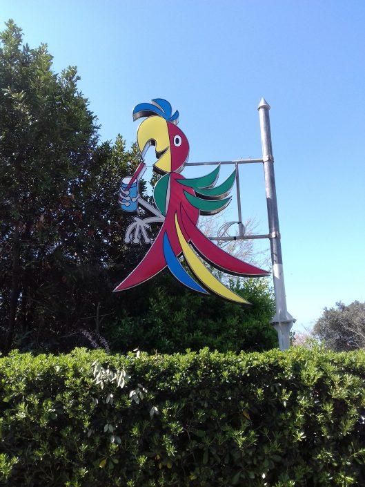 pappagallo insegna - bagno oliviero